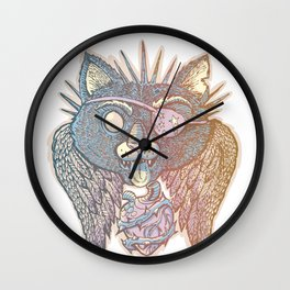 Cat Spirit Wall Clock