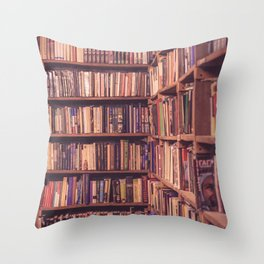 Old Book Shop Throw Pillow