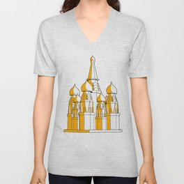 (Saint Basil's) Cathedral Unisex V-Neck
