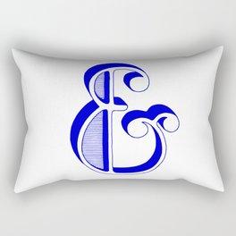 Blue Ampersand Rectangular Pillow