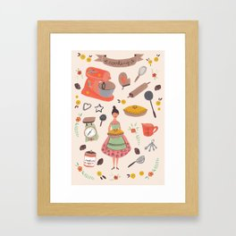 Cooking some cookies Framed Art Print