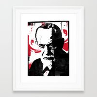 freud Framed Art Prints featuring Freud by Taylor Callery Illustration