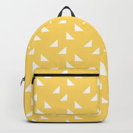 triangles in yellow Backpack