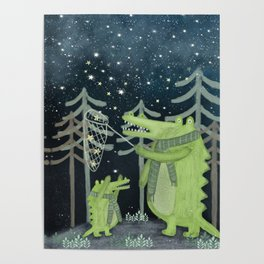 crocodoodle stars Poster