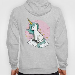 Cute Unicorn - Rainbow Pixie Dust Magic Horse Star Hoody