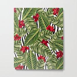 Tropical Zebra Metal Print