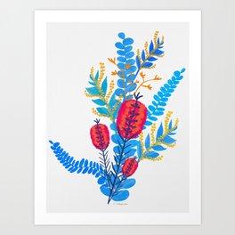 Australian Native Bouquet Art Print