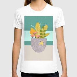 Succulent Garden with Moth T-shirt