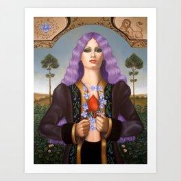 Violets for Heart Veins Art Print