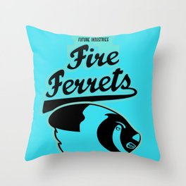 Future Industries Fire Ferrets Throw Pillow
