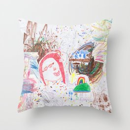 Children's art Throw Pillow