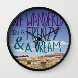 Frenzy + Dream Wall Clock