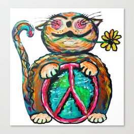 Peace Chubbycat Canvas Print