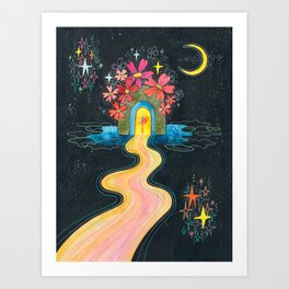 Pilgrimage to the center of my heart Art Print