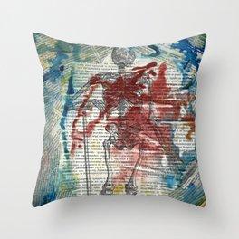 Vesalius Grave digger Throw Pillow