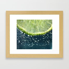 Lemony Limy Framed Art Print