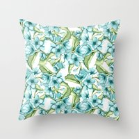 blossom Throw Pillows featuring Blossom by Julia Badeeva