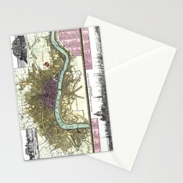 London-England-1740 Stationery Cards