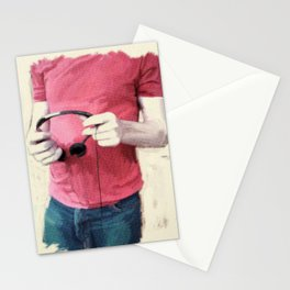 Headphones Stationery Cards