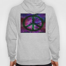 Peace symbol and infused colors Hoody