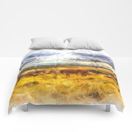 Cows At Rest Art Comforters