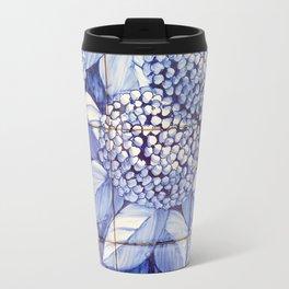 Floral tiles Travel Mug