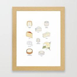 cheese board Framed Art Print