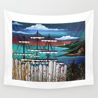 sailing Wall Tapestries featuring Sailing by Jessis Kunstpunkt.