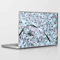 paris map Laptop & iPad Skins featuring Paris map by Bekim ART