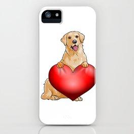 Valentines Golden Retreiver iPhone Case