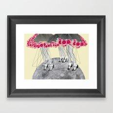 C-Over The Moon  Framed Art Print
