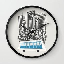 Miami Cityscape Wall Clock