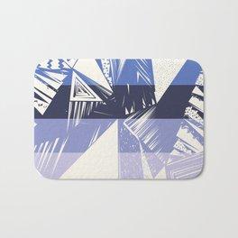 Geometrical ivory lilac modern abstract shapes Bath Mat