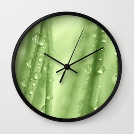 Green Gras 34 Wall Clock