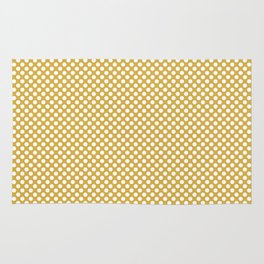 Spicy Mustard and White Polka Dots Rug