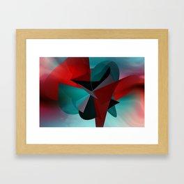 3 colors for a polynomial - landscape format Framed Art Print
