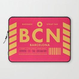 Luggage Tag D - BCN Barcelona El Prat Spain Laptop Sleeve
