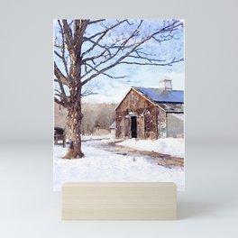 Winter Scene II Mini Art Print