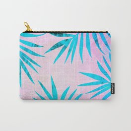 Refreshing Geometric Palm Tree Leaves Tropical Chill Design Carry-All Pouch