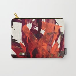 Embers (2): A bold abstract piece in reds, gray, and white Carry-All Pouch
