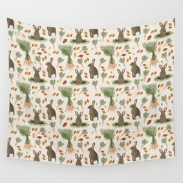 Bunnies and Carrots in the Fall Wall Tapestry