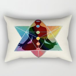 Sacred Geometry Merkaba Chakra Meditation Rectangular Pillow