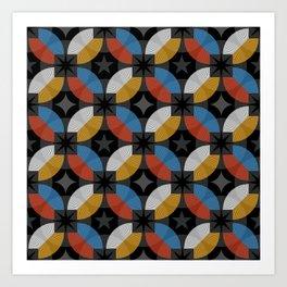Lovely abstract hand drawn vintage geometric illustration pattern Art Print