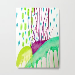 Watercolor Doodle Metal Print