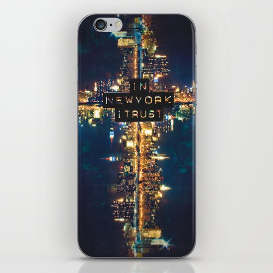 In New York I Trust iPhone & iPod Skin
