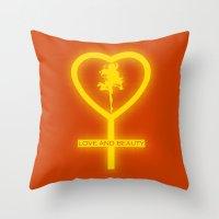 sailor venus Throw Pillows featuring Sailor Venus by trekvix