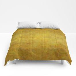 """""""Gold & Ocher Burlap Texture"""" Comforters"""