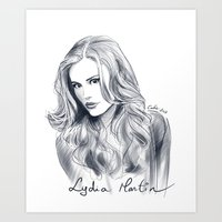 lydia martin Art Prints featuring Lydia Martin - Holland Roden by littlecofiegirl