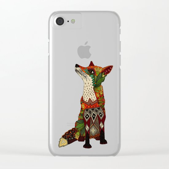 fox love mint Clear iPhone Case