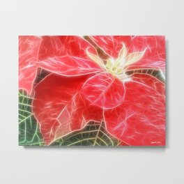 Mottled Red Poinsettia 1 Ephemeral Angelic Metal Print